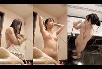 【隠し撮り】ラブホテル盗み撮り映像⑦ シャワーを浴びる清楚美女のシャワーでまんこおっぴろげめくり洗いを隠し撮り【個人撮影】